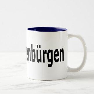 I love Siebenbuergen lang Zweifarbige Tasse