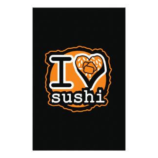 I love sushi Japanese food gastronomy Briefpapier