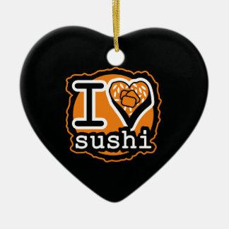 I love sushi Japanese food gastronomy Keramik Ornament