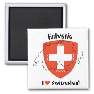 I love Switzerland Magnet Quadratischer Magnet