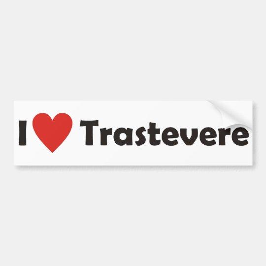 I love Trastevere Autoaufkleber