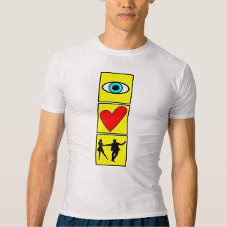 i love west coast swing / dance t-shirt