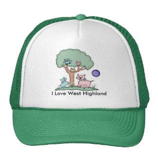 I Love West Highland Retrokappe
