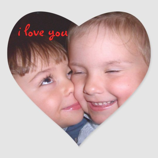 I love you ! First love Herz-Aufkleber