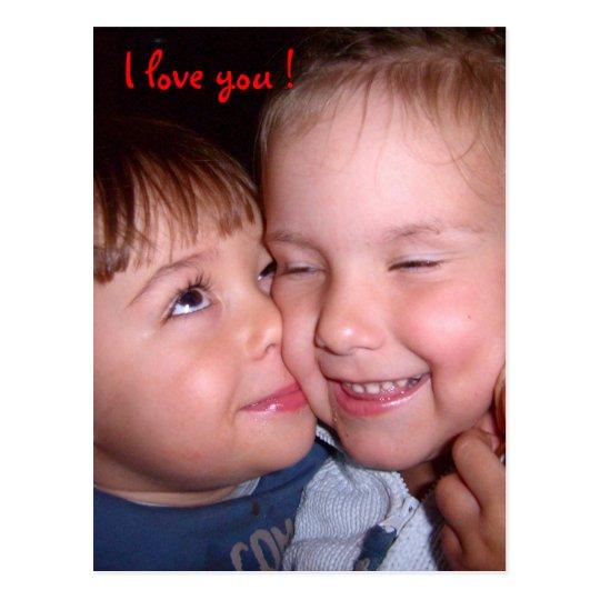 I love you ! First love Postkarte