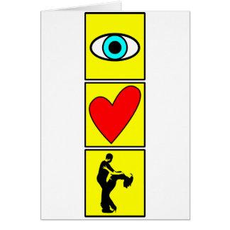 i love zouk / dance karte