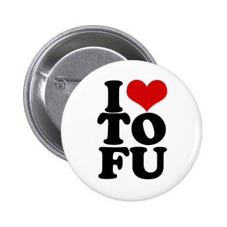 I lustiger veganer Spaß des Liebe-Tofus Button