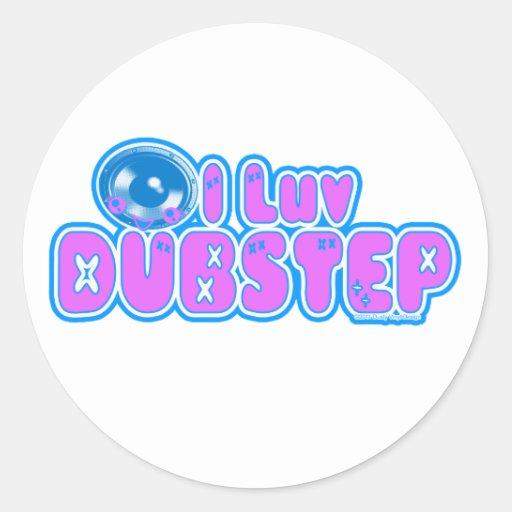 I luv DUBSTEP Runde Sticker