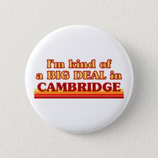 I´m Art einer großen Sache in Cambridge Runder Button 5,1 Cm