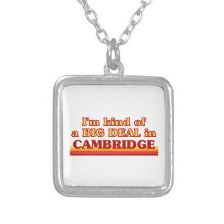 I´m Art einer großen Sache in Cambridge Versilberte Kette