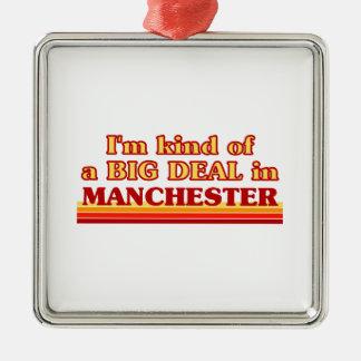 I´m Art einer großen Sache in Manchester Silbernes Ornament