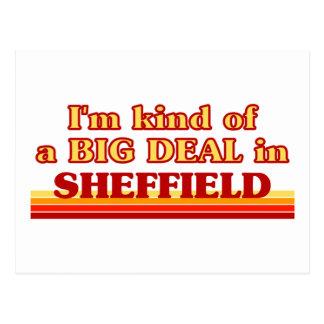 I´m Art einer großen Sache in Sheffield Postkarte