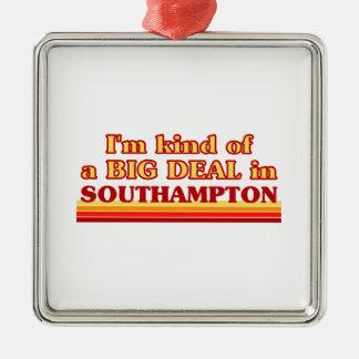 I´m Art einer großen Sache in Southampton Silbernes Ornament