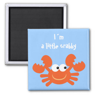 I´m ein kleiner crabby lustiger Cartoonkrabbenmagn Magnete