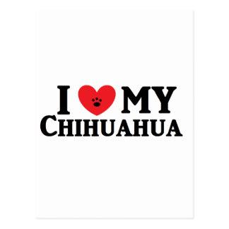 ♥ I meine Chihuahua Postkarte