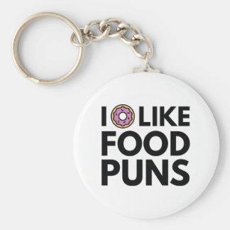 I mögen Krapfen Nahrungsmittelwortspiele Schlüsselanhänger