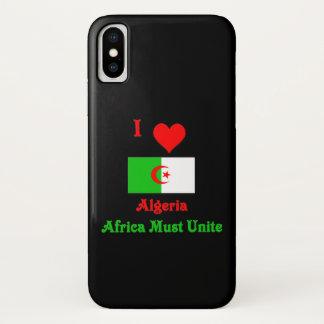 I muss Liebe Algerien, Afrika vereinigen iPhone X Hülle