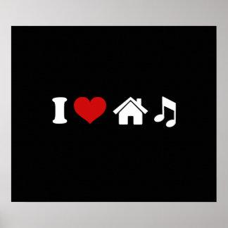 I Party-Tanzen des Liebe-Haus-Musik-Plakat-| Ibiza Poster