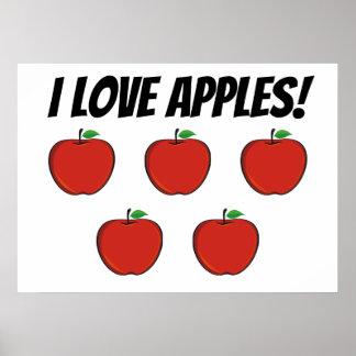 I Plakat der Liebe-Apfel-(Apfel 5)