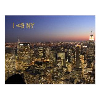 I Postkarte der Liebe-NY von New- York Cityszene