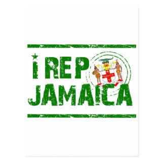 I Repräsentant Jamaika Postkarte