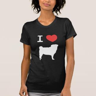 I schließt Pugs auf T-Shirt