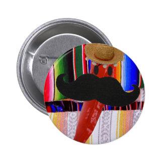 I Schnurrbart… ist es eher Paprika! Buttons