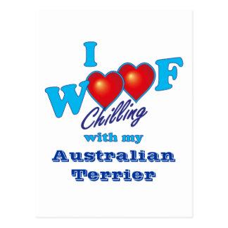 I Schuss australisches Terrier Postkarte