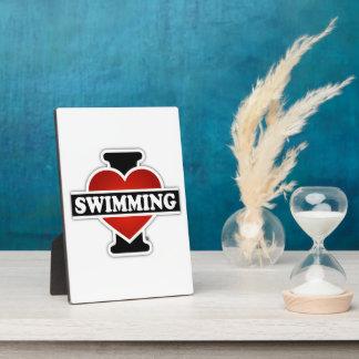I schwimmende Liebe Fotoplatte