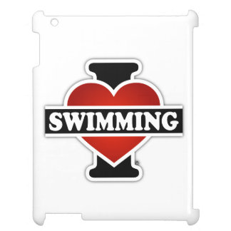 I schwimmende Liebe iPad Hülle