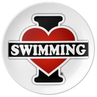 I schwimmende Liebe Porzellanteller