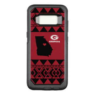 I Stammes- Muster Herz-Georgia-Staats-| OtterBox Commuter Samsung Galaxy S8 Hülle