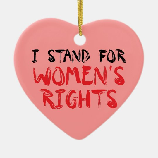 I stand for women's rights Christmas ornament