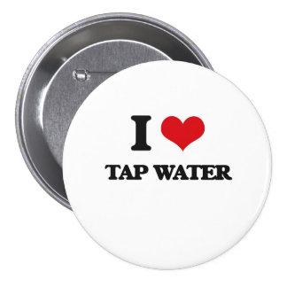 I stechen Liebe Wasser an Runder Button 7,6 Cm