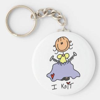 I Strick-Strichmännchen-T-Shirts und Geschenke Schlüsselanhänger
