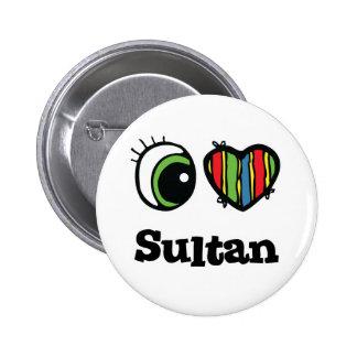 I Sultan der Liebe-(Herz) Runder Button 5,1 Cm