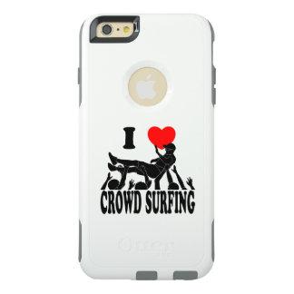 I surfende Liebe-Menge (Mann) (Schwarzes) OtterBox iPhone 6/6s Plus Hülle