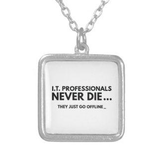 I.T. Fachleute die nie Halskette Mit Quadratischem Anhänger