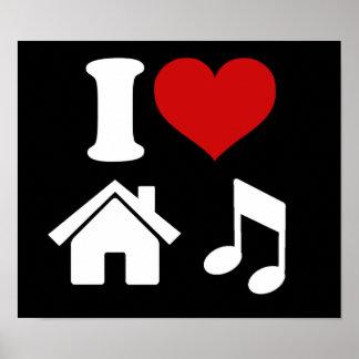 I Tanzen-Party des Liebe-Haus-Musik-Plakat-| Ibiza Poster