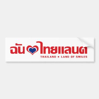 I Thailand ❤ thailändische Sprachskript des Autoaufkleber