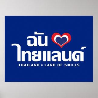 I Thailand ❤ thailändische Sprachskript des Poster