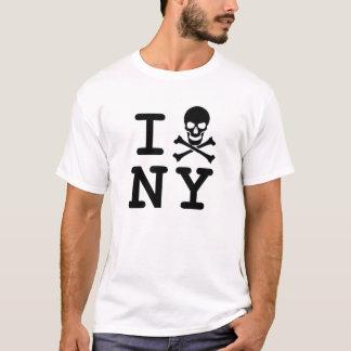 I (Totenkopf mit gekreuzter Knochen) NY T-Shirt