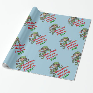 I Touch mein Elf-WeihnachtsSpaß-Verpackungs-Papier Geschenkpapier