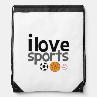 I trägt Liebe Drawstring-Rucksack zur Schau Sportbeutel