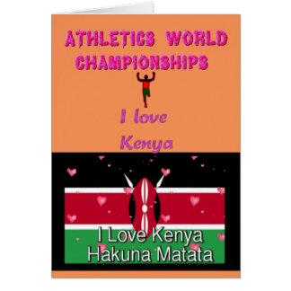 I trägt Liebe-Kenia-Welt Meister Hakuna Matata zur Karte