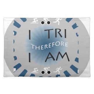 I Tri deshalb bin ich Triathlon Stofftischset