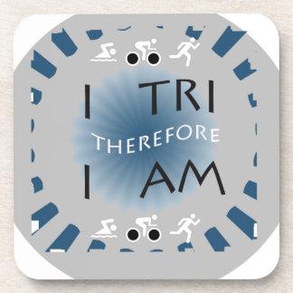 I Tri deshalb bin ich Triathlon Untersetzer