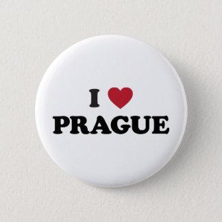 I Tschechische Republik Herz-Prags Runder Button 5,1 Cm
