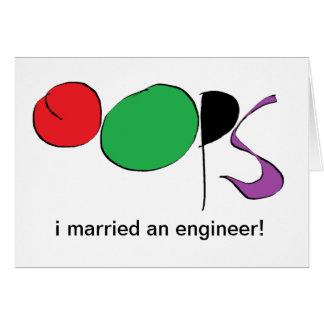 I verheiratet ein Ingenieur Karte