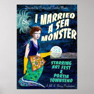 I verheiratet ein Seemonster-Plakat Poster